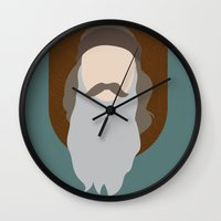 phil jones Wall Clocks featuring Phil by Maxwell Lesatz