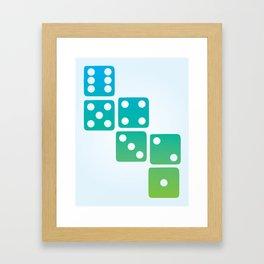 Dice Framed Art Print