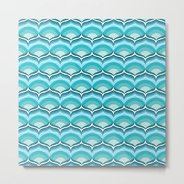 Soft Blue Pattern Metal Print