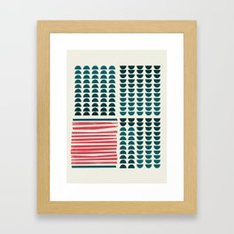 Rojo-Azul Framed Art Print