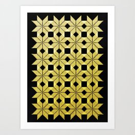Golden Snow Art Print