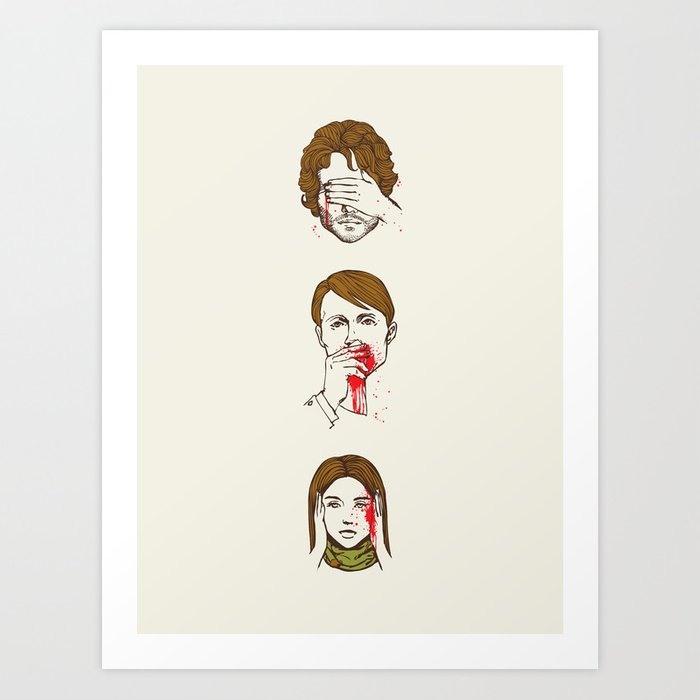 No Evil Hannibal Art Print