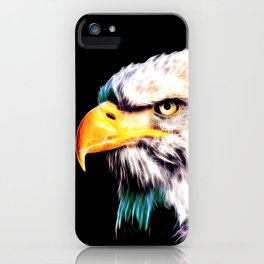 bald eagle 03 neon lines extraordinary iPhone Case