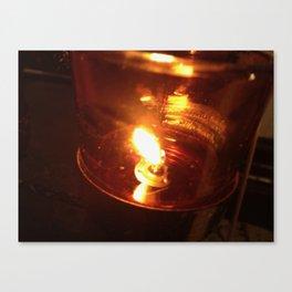 Red Votive Lamps Canvas Print