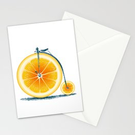 Orange and an Old Bike Stationery Cards