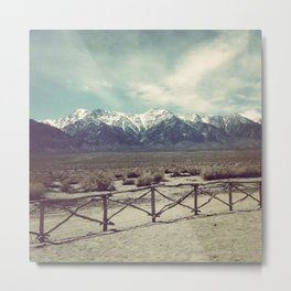 Eastern Sierras from Manzanar Metal Print