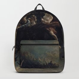 Peter Nicolai Arbo The Wild Hunt Of Odin Restored Backpack