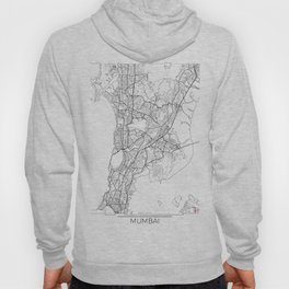 Mumbai Map White Hoody