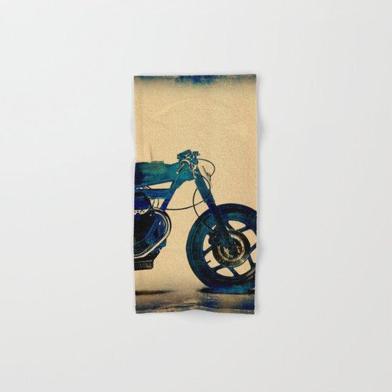 Metalic Blue Hand & Bath Towel