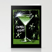 martini Stationery Cards featuring Martini  by David Miley