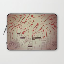 Burning city Laptop Sleeve