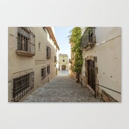 Spanish Street in Altafulla Canvas Print