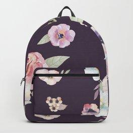 Floral I - Eggplant Backpack
