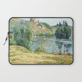 12,000pixel-500dpi - Ruins of Chateau Gaillard, The Seine River - Digital Remastered Edition Laptop Sleeve