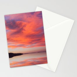 Electric orange sunset Stationery Cards