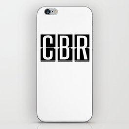 CBR - Canberra - Australia - Airport Code Gift or Souvenir iPhone Skin