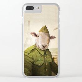 Private Leonard Lamb visits Paris Clear iPhone Case