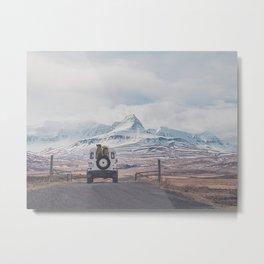 NEVER STOP EXPLORING ICELAND Metal Print