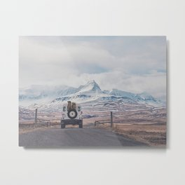 NEVER STOP EXPLORING ICELAND Metal Print
