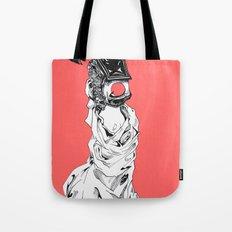 Red Circle Tote Bag