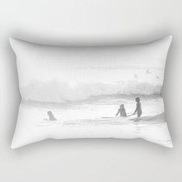 Surfing Three Girls Surfing Seashore Rectangular Pillow