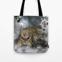 Winter Lynx Tote Bag