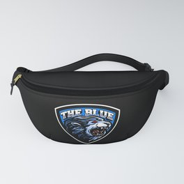the blue lion logo designthe Fanny Pack