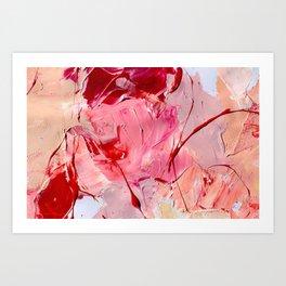 Crimson Blooms Art Print