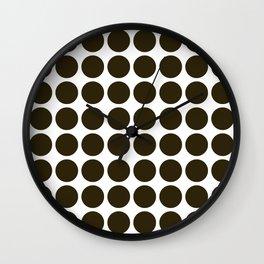 Café Mocha Neutral Dots Wall Clock