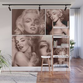 Marilyn Collage Wall Mural