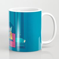 50s Mugs featuring Diner by Ale Giorgini