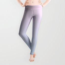 Pastel Ombre Millennial Pink Blue Gradient Pattern Leggings