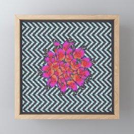 Butterflies 1 - Purple w/ Blue Background Framed Mini Art Print