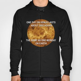 One day on Venus is quite similar to one Monday on Earth, both lasts 2802 hours Hoody