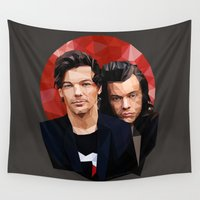 larry Wall Tapestries featuring Polygonal Larry by Peek At My Dreams