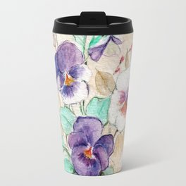 Pansies Bouquet Travel Mug