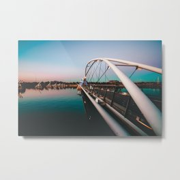 Tempe Lake Bridge Arizona Metal Print