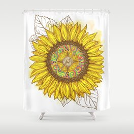 Sunflower Compass Shower Curtain