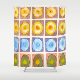 Secured Luminous Circles Shower Curtain