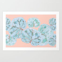 Tropical Sea Grape Leaves Art Print