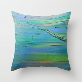 Plain of Castelluccio seen from above Throw Pillow
