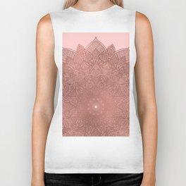 Dreamcatcher Sunset - abstract bronze rose gold mandala, blush pink Biker Tank