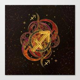 Sagittarius Zodiac Sign Fire element Canvas Print