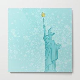 Magical Lady Liberty Metal Print