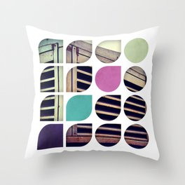 Cold Comfort Collage — Bunker Throw Pillow