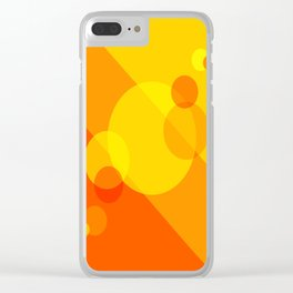 Orange Spheres Abstract Clear iPhone Case