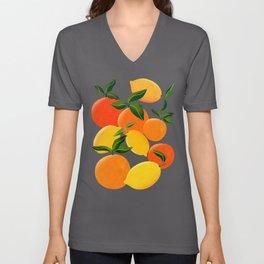 Oranges and Lemons Unisex V-Ausschnitt