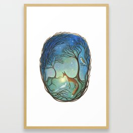 The Light Between Framed Art Print