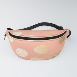 Sweet Life Polka Dots Peach Coral + Orange Sherbet Shimmer Fanny Pack