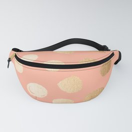 Sweet Life Polka Dots Peach Coral + Orange Sherbet Shimmer Fanny Pack
